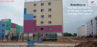 Dự án lát sàn nhựa cao cấp Hàn Quốc ký túc xá Samsung Thái Nguyên