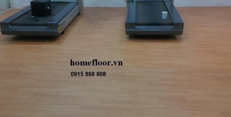 Sàn cao su cuộn cho phòng thi đấu đa năng-gym-Fitness